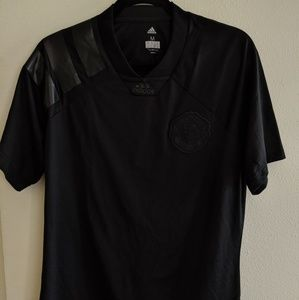 Adidas Manchester United all black jersey M
